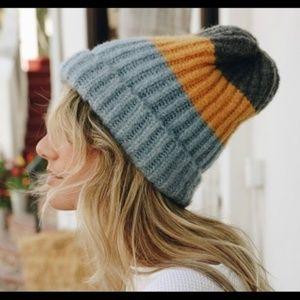 Color Block Knit Beanie